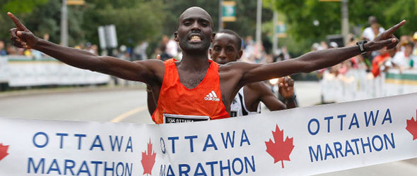 Laban Moiben sets Course Record in Ottawa Marathon 2012
