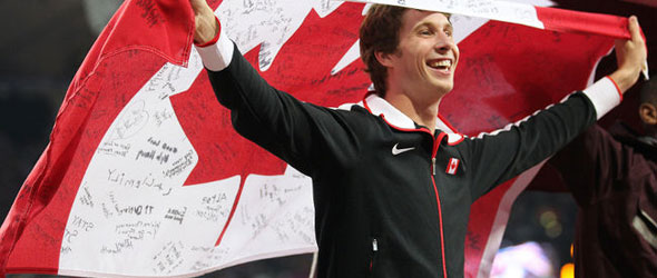 Derek Drouin coached by Joel Skinner