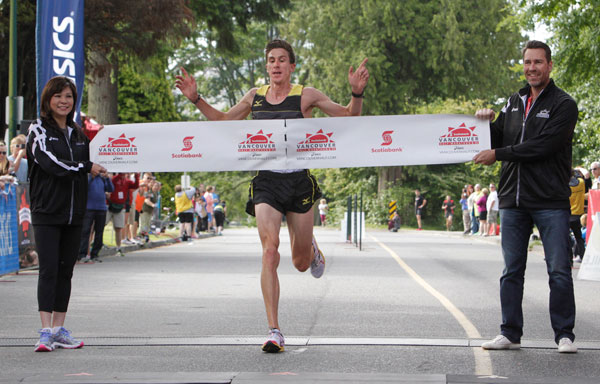Dylan Wykes wins Vancouver Half