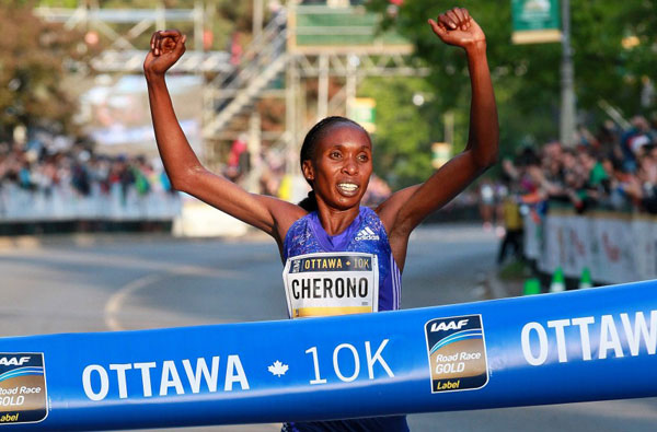 Cherono breaks Ottawa 10 km race record