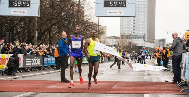 Birhanu Legese causes upset in Berlin Half