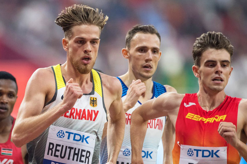 Reuther sets 800m indoor PB