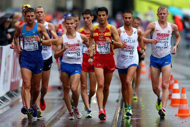 russia race walkers
