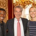 Haile and Paula meet Austrian President