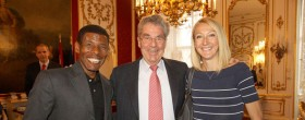 Haile and Paula meet Austrian President