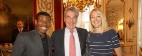 Gebrselassie and Radcliffe meet Austrain President