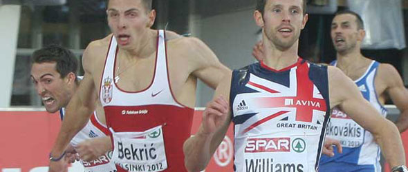 Rhys Williams wins 400m Hurdles title