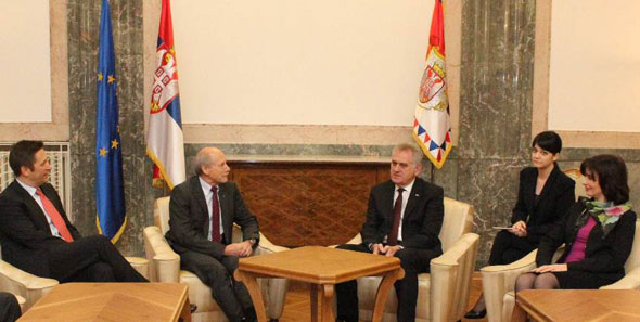 President Wirz was welcomed by the Mayor of Arandjelovac