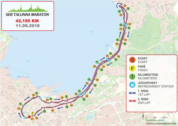Tallinn Marathon map