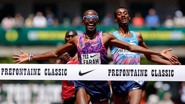 Farah sprints to victory at Prefontaine Classic