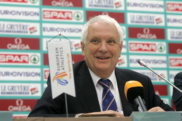 Svein Arne Hansen re-elected European Athletics President