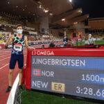 Jakob Ingebrigtsen new European 1500m record