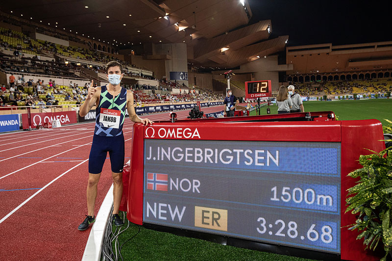 Jakob Ingebrigtsen new European 1500m record
