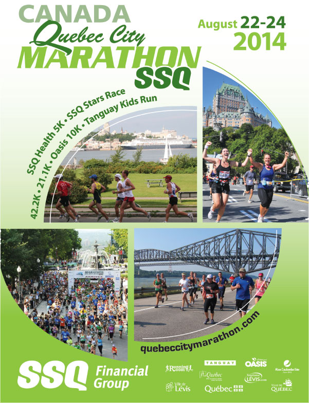 quebec city marathon flyer