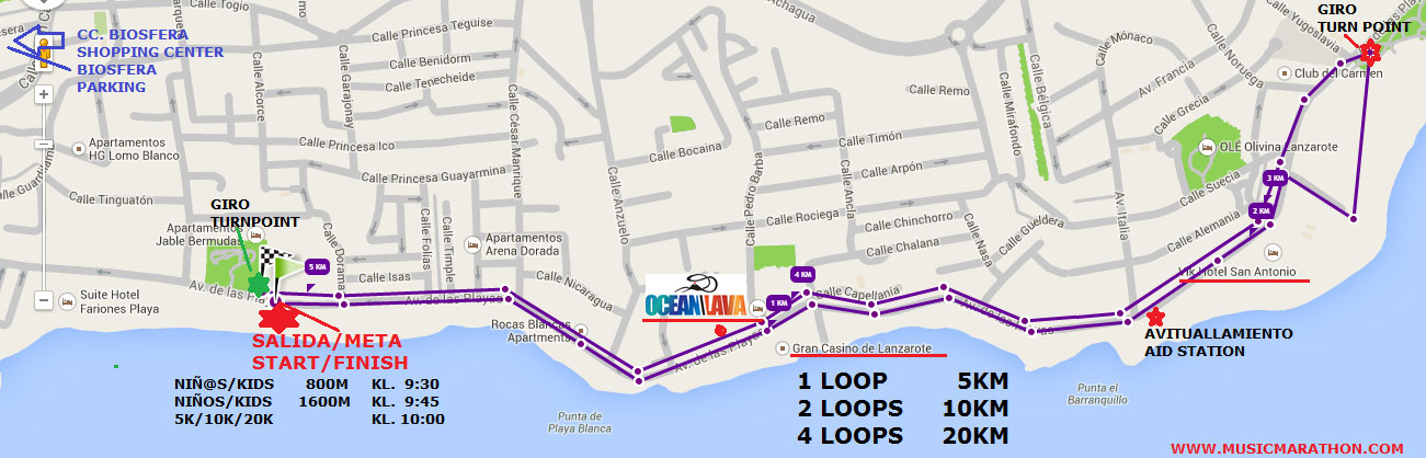 music marathon course