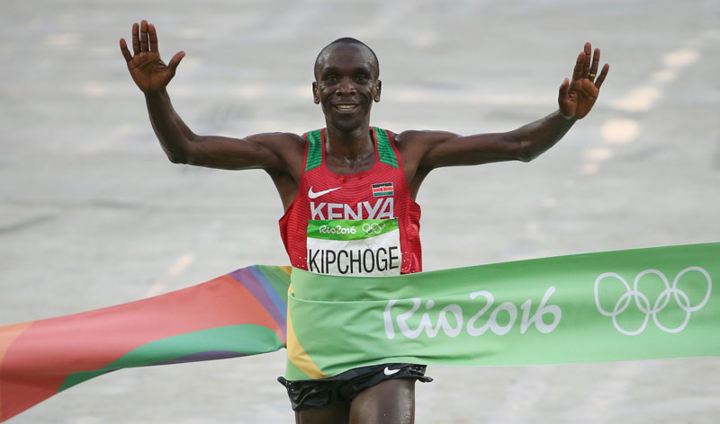 Eliud Kipchoge for Delhi Half Marathon 2016