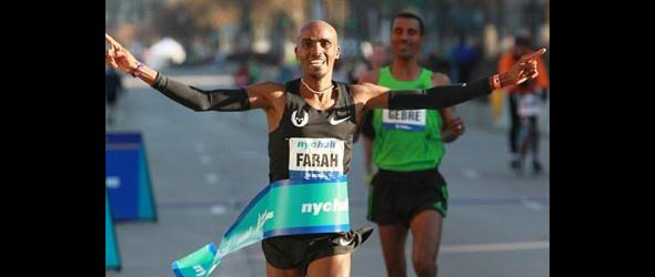 Mo Farah and Gebre Gebremariam