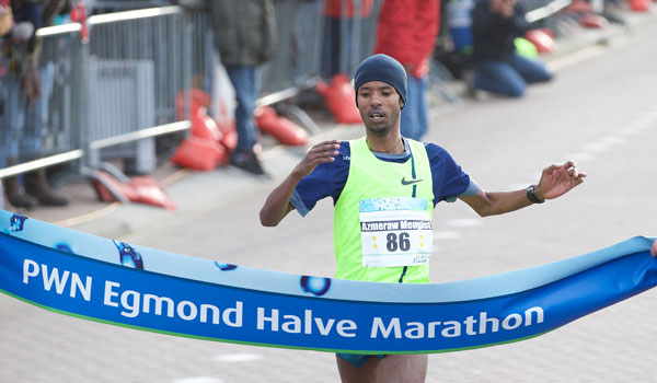 Azmeraw Mengist wins Egmond Half Marathon 2015