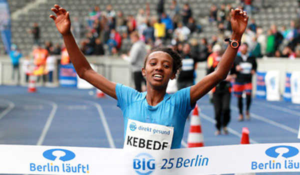 Kebede sets Ethiopian 25k record in Berlin
