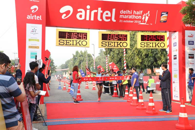 Tsehay Gemechu surprise Delhi Half Marathon winner