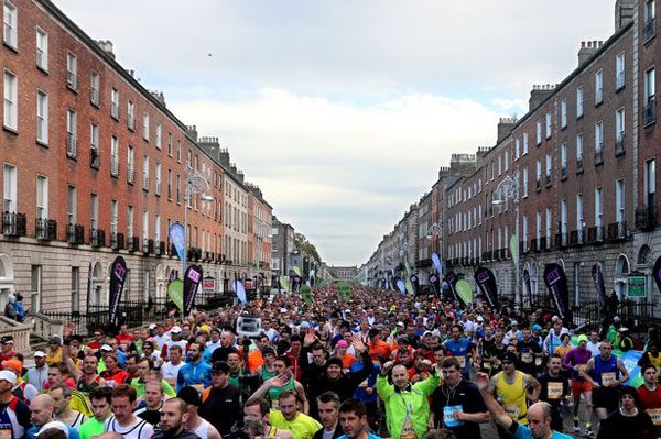 dublin city marathon start