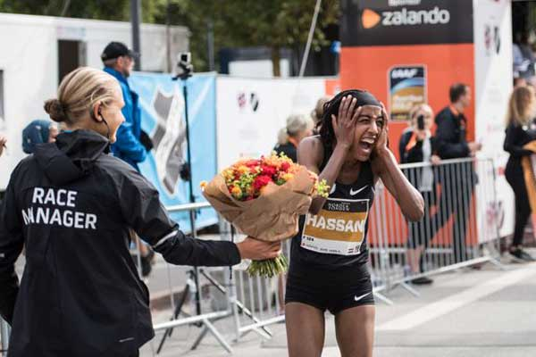 Hassan sets record at Copenhagen Half