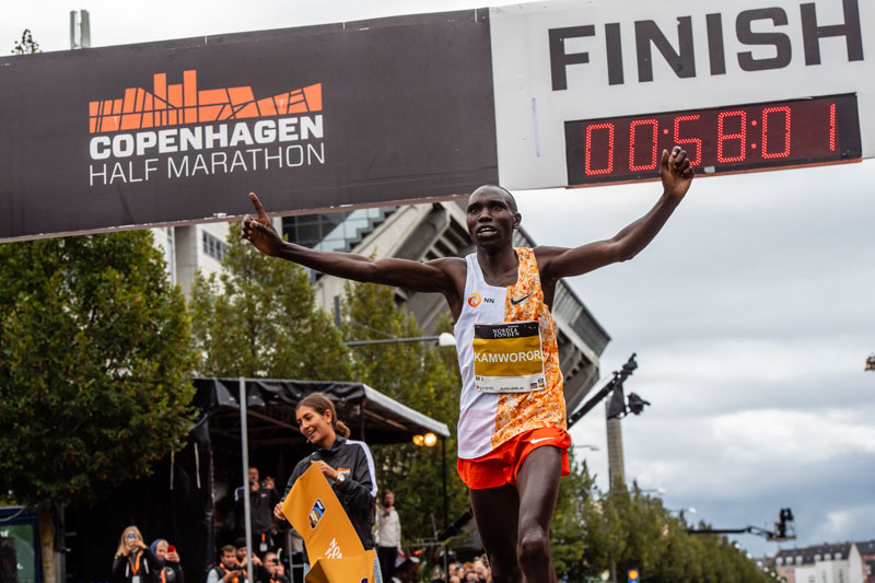 Geoffrey Kamworor sets WR at CPH Half