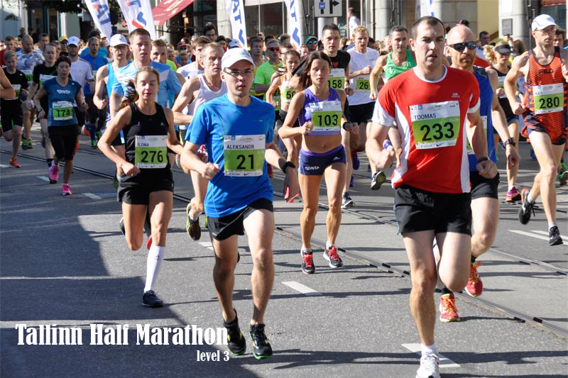 Level 3 Tallinn half marathon training