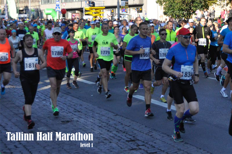 Level 1 Tallinn half marathon training