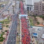 Tel Aviv Marathon 2012 finish and start straight