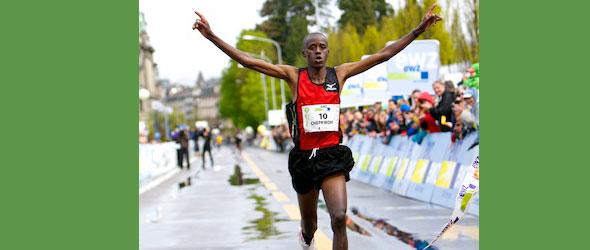 Franklin Chepkwony wins Zurich Marathon 2012