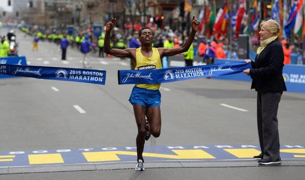 Lelisa Desisa - Boston Marathon 2015