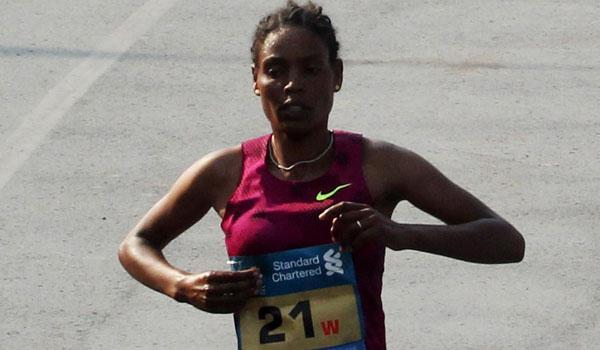Dinknesh Mekash - Mumbai Marathon