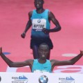 Kipruto wins stormy event