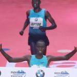 Kipruto wins stormy event
