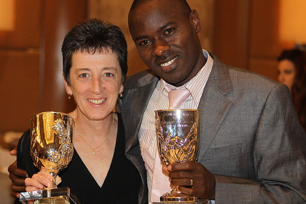 Patrick Makau and Rosa Mota