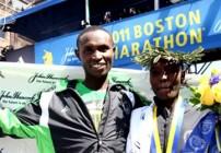 Geoffrey Mutai and Caroline Kilel