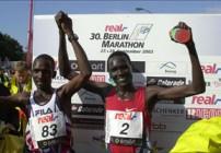 Top 10 positions Berlin Marathon 2003