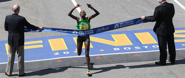 Caroline Kilel wins Boston Marathon 2011