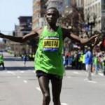 Mutai blasts to a Boston Win