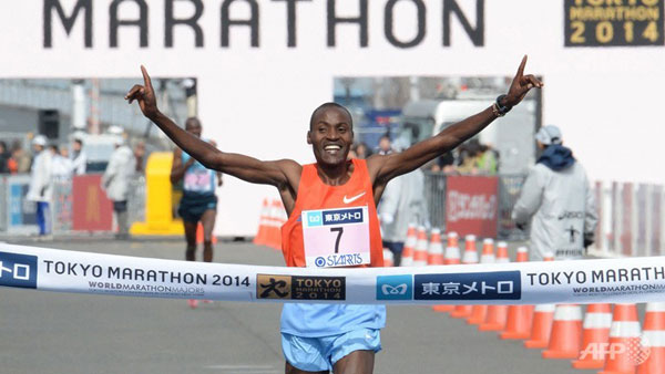 Dickson Chumba wins Tokyo 2014