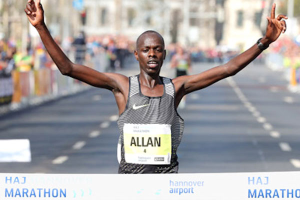 Allan Kiprono wins after thrilling battle in Hannover