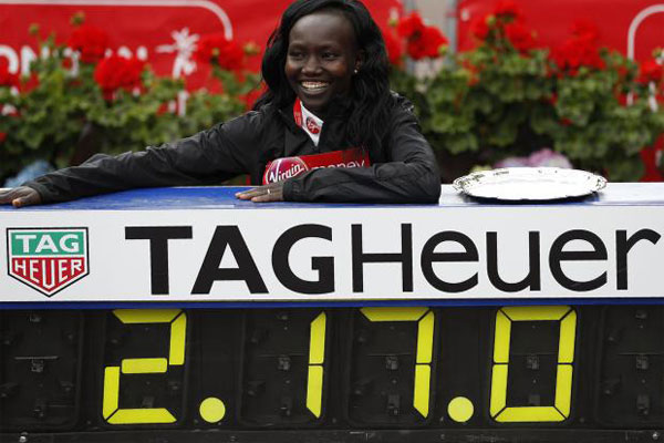 mary keitany - london marathon wr
