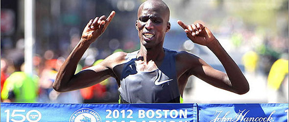 Wesley Korir wins Boston Marathon 2012