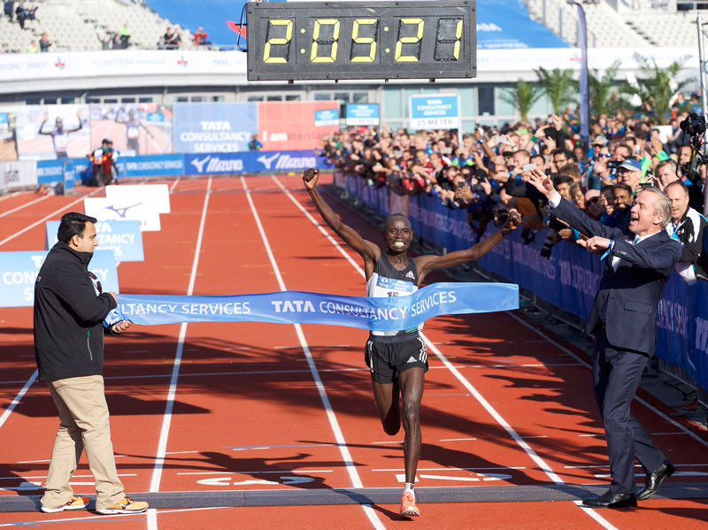 Daniel Wanjiru sets Amsterdam Marathon record