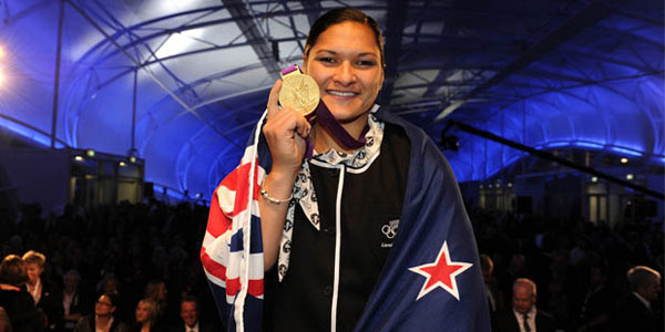 Valerie Adams receives Gold