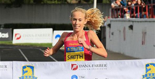 Kim Smith wins BAA Half Marathon 2012