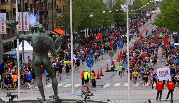 Göteborg largest annual half-marathon