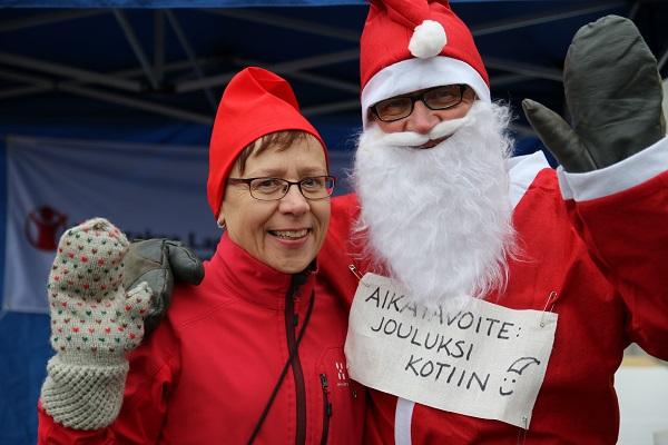 Joulujuoksutapahtumalla kerättiin varoja kotimaan lapsille