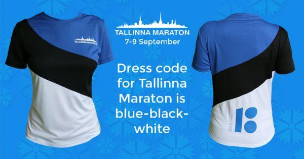 Tallinnan Maraton juostaan Viron lipun väreissä